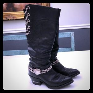 Harley Davidson Boots w ankle chains